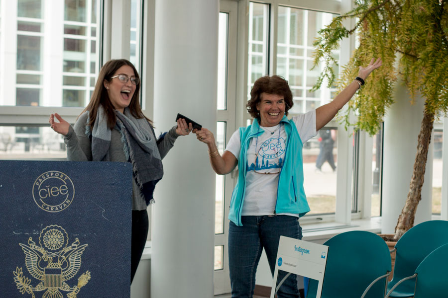 In conjunction with the Council for International Educational Exchange, the KSC Global Education Office (GEO) gave away 50 passports to students who have never owned one before on March 28 from 10 a.m. to 3 p.m. in the Flag Room of the L.P. Young Student Center. The opportunity to receive a passport was sent out in an email to all KSC students, and all applications were received in less than 24 hours. Recipients were chosen based on eligibility, such as never having had a passport, not being a graduating senior and financial need.