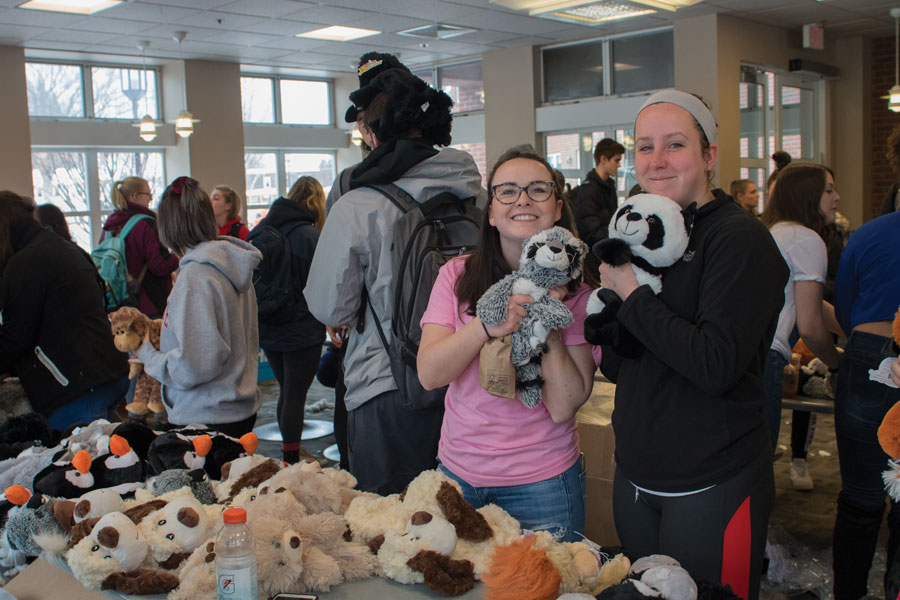 On Monday, April 16, Keene State College students created stuffed animals on the first floor of the L.P. Young Student Center. The event lasted from 11 a.m. to 2 p.m. and was put on by the Student Activities Council. The stuff-a-plush event is just one of many events SAC is putting on this week leading up to the spring concert on Friday evening. The event was put on to give students more oppurtunities to take part in the events that SAC puts on.