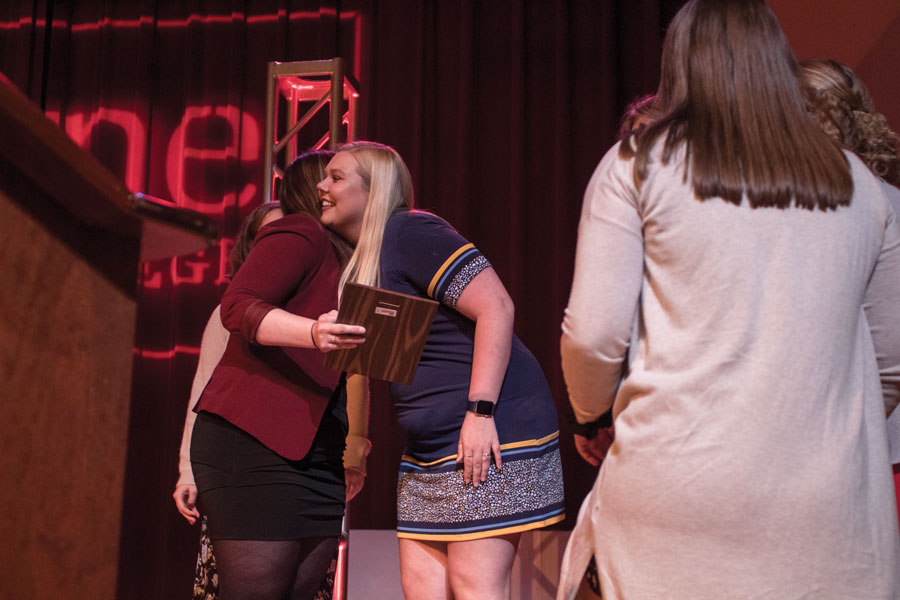On Friday, April 27, the 28th Annual Leadership Awards banquet was held in the Mabel Brown Room where KSC students and faculty were presented with awards including outstanding leadership, outstanding Greek-Letter organization, outstanding advisor and many others.